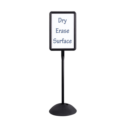 Write Way® Directional Sign, Rectangle, Black