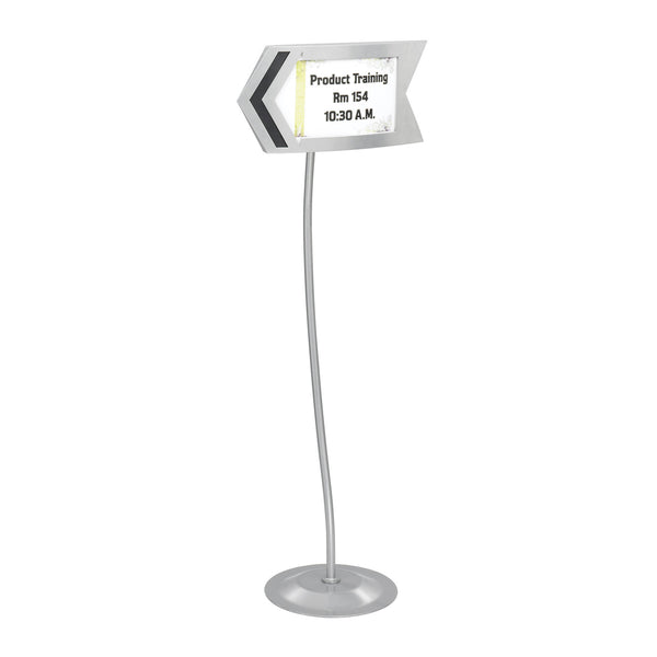 Arrow Directional Sign, Customizable, Gray