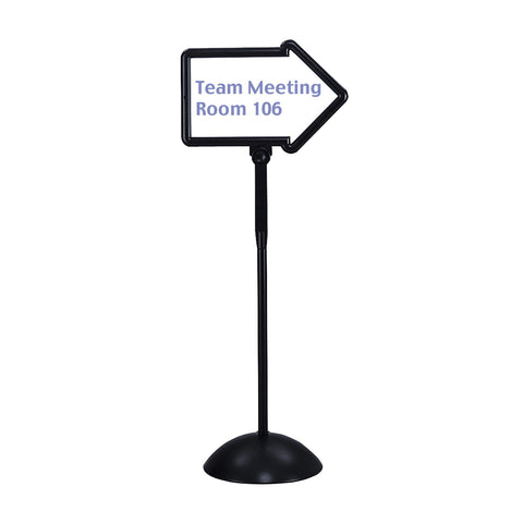 Write Way® Directional Sign, Black