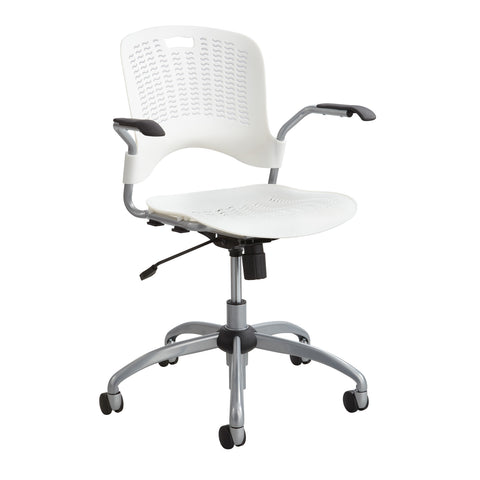 Sassy®  Manager Swivel Chair, Pearl White