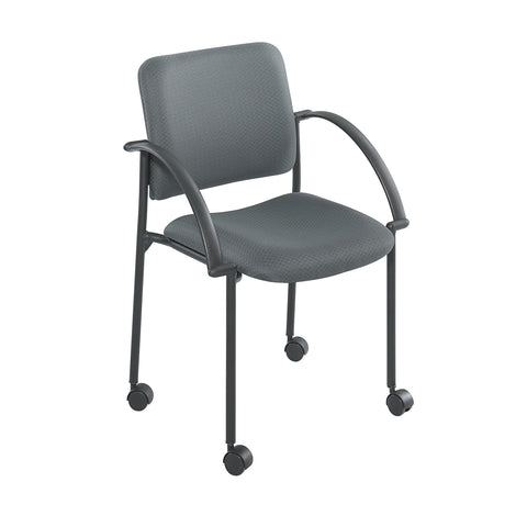 Moto™ Stack Chair, Charcoal Gray, (Qty. 2)