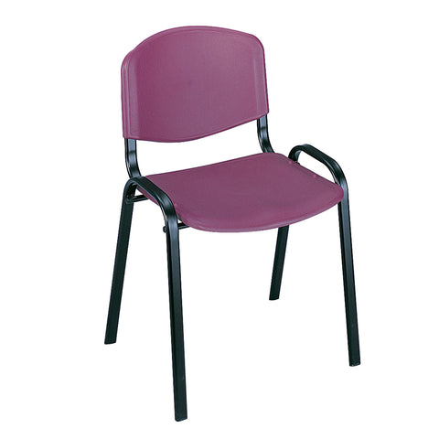 Saco® Stack Chairs, Burgundy, (Qty. 4)