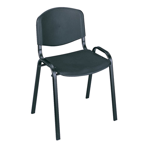 Saco® Stack Chairs, Black, (Qty. 4)