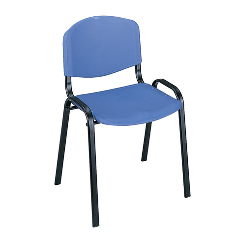 Saco® Stack Chairs, Blue, (Qty. 4)