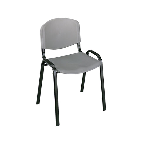 Saco® Stack Chairs, Charcoal Gray (Qty. 4)