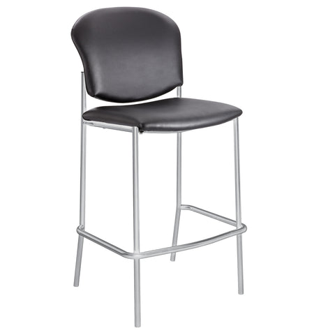 Diaz™ Bistro-Height Chair, Black Vinyl