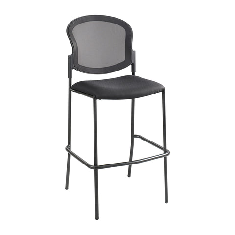 Diaz™ Bistro-Height Chair, Mesh Back, Black