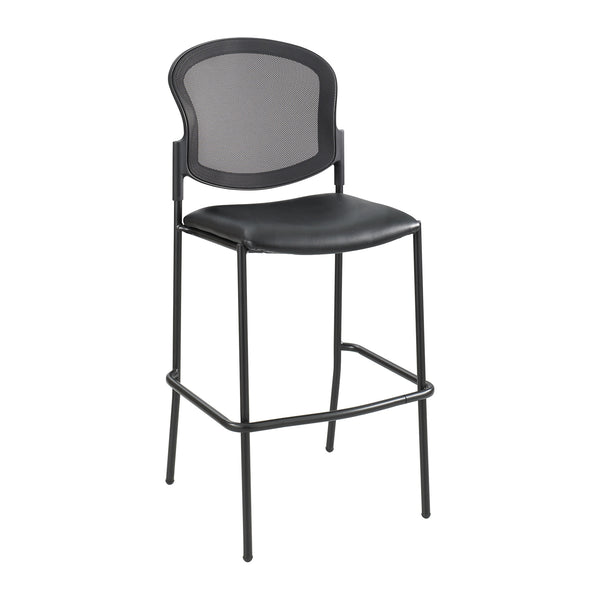 Diaz™ Bistro-Height Chair, Mesh Back, Black Vinyl