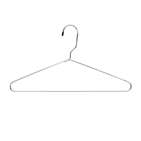 Hangers, Metal Heavy-Duty, Silver, (Qty. 100)
