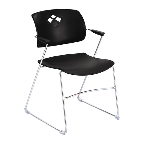 Veer™ Stack Chair, Flex Frame, Black, (Qty. 4)