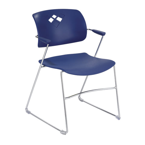 Veer™ Stack Chair, Flex Frame, Blue, (Qty. 4)