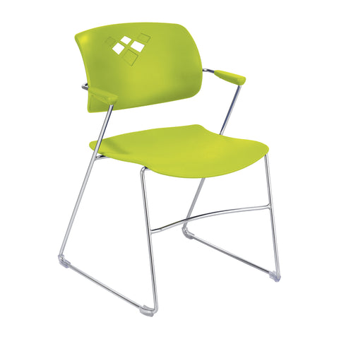 Veer™ Stack Chair, Flex Frame, Grass Green, (Qty. 4)
