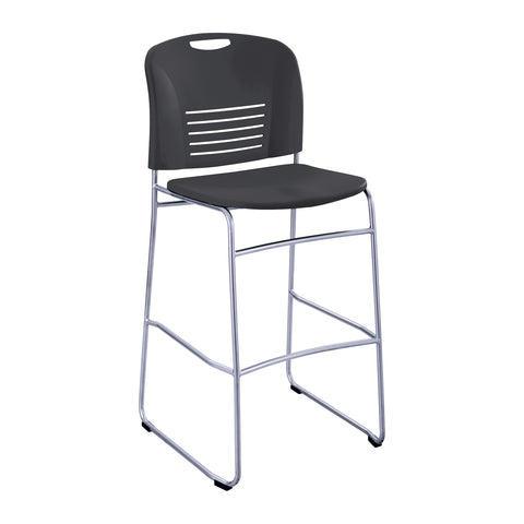 Vy™ Bistro-Height Chair, Sled Base, Black
