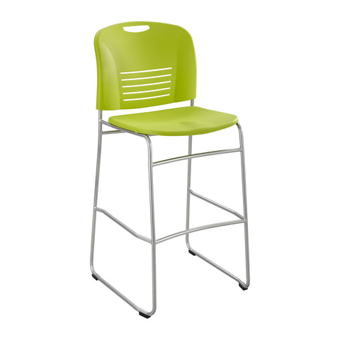 Vy™ Bistro-Height Chair, Sled Base, Grass Green