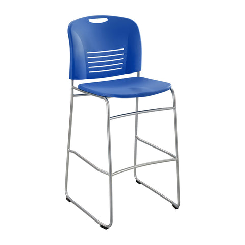 Vy™ Bistro-Height Chair, Sled Base, Lapis