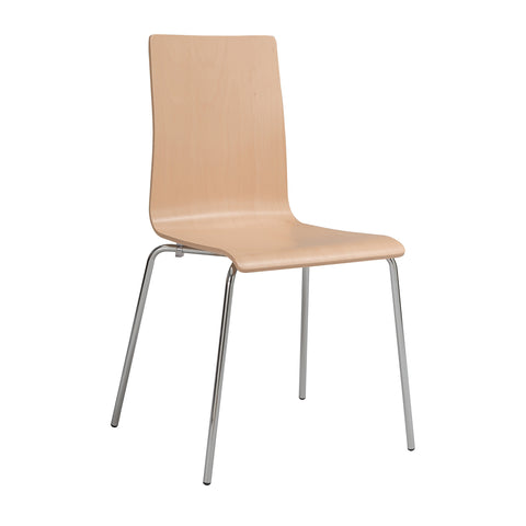 Bosk™ Stack Chair, Beechwood Seat & Back, Beech