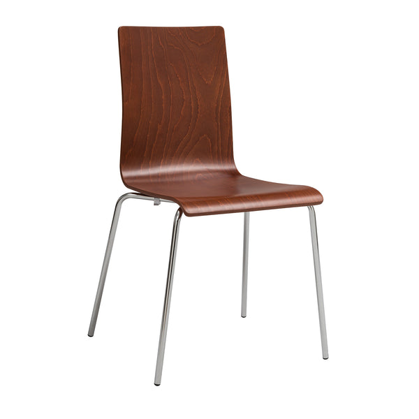 Bosk™ Stack Chair, Beechwood Seat & Back, Cherry