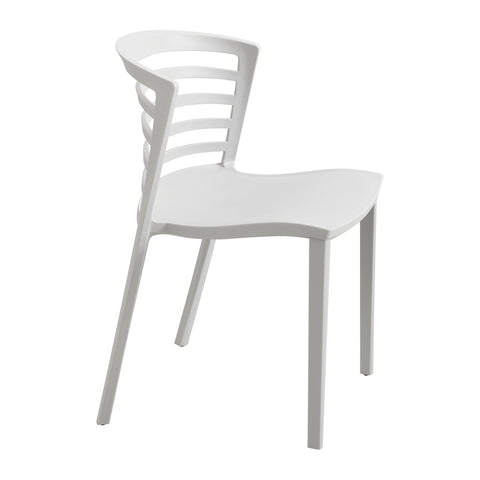 Entourage™ Stack Chair, Outdoor Seating, Gray, (Qty. 4)