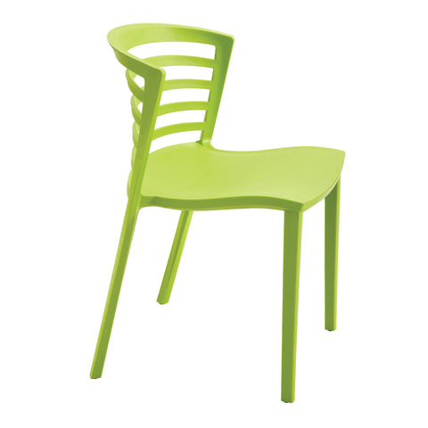Entourage™ Stack Chair, Outdoor Seating, Grass Green, (Qty. 4)