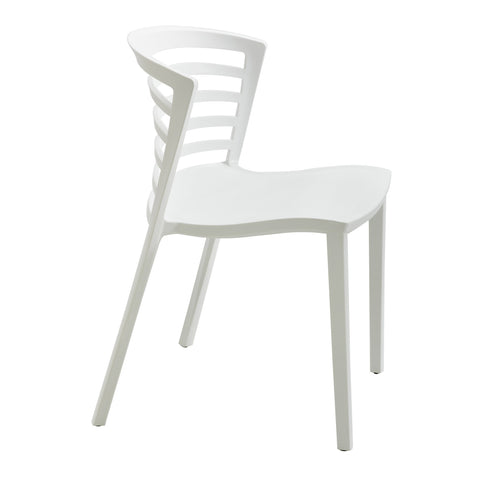 Entourage™ Stack Chair, Outdoor Seating, White, (Qty. 4)