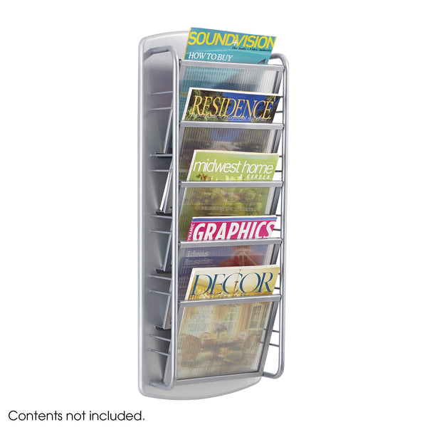 Impromptu® Magazine Rack, 5 Pocket, Gray