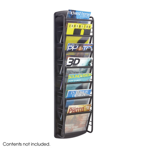 Impromptu® Magazine Rack, 7 Pocket, Black
