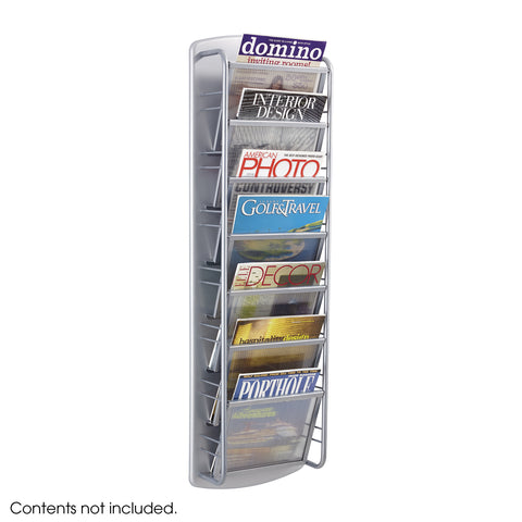 Impromptu® Magazine Rack, 7 Pocket, Gray