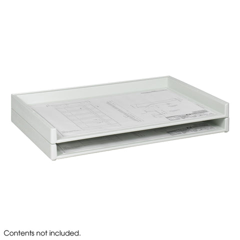 "Giant Stack Tray, 24 x 36"" Documents, White, (Qty. 2)"