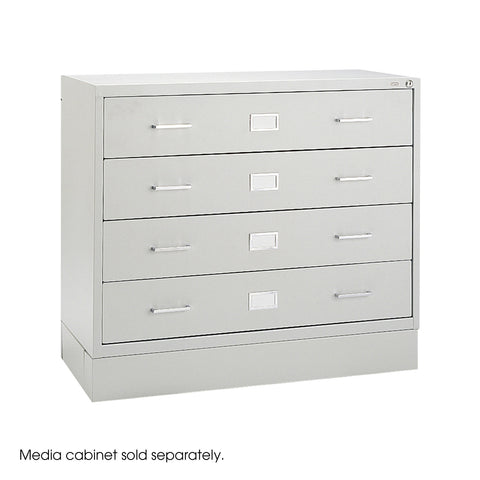 Media Cabinet Base, Light Gray