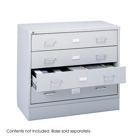 Audio/Video Microform Cabinet, Light Gray