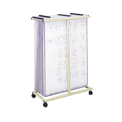 Mobile Vertical File, Tan