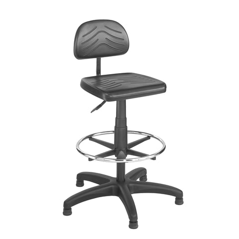Task Master® Economy Workbench Chair, Polyurethane, Black