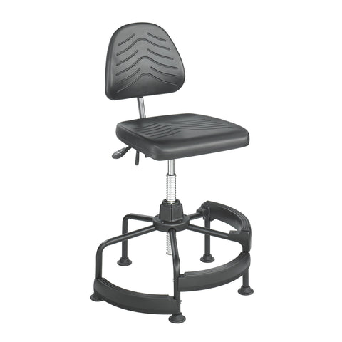 Task Master® Deluxe Industrial Chair, Polyurethane, Black