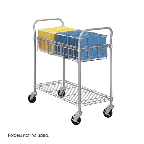 "Wire Mail Cart, 36""W, Gray"