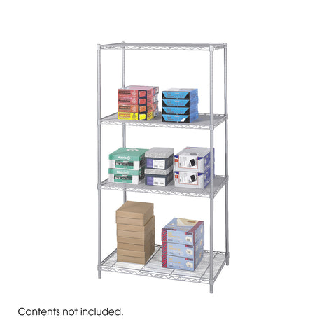 "Industrial Wire Shelving, 36 x 24"", Gray"