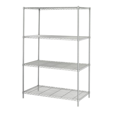 "Industrial Wire Shelving, 48 x 24"", Gray"