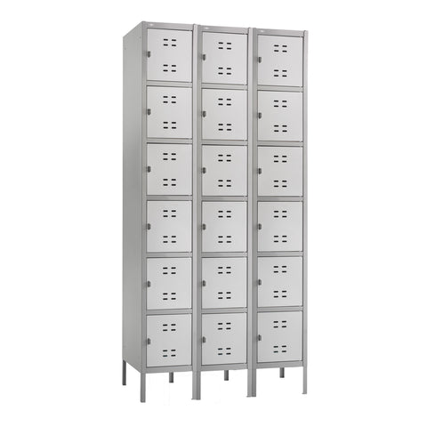 Box Locker, 3 Column, Gray