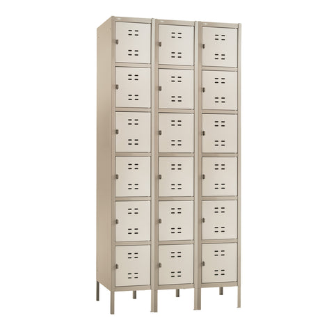 Box Locker, 3 Column, Tan