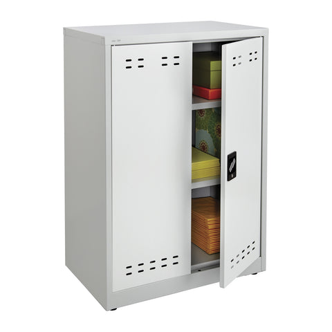 "Storage Cabinet, 42""H, Steel, Gray"
