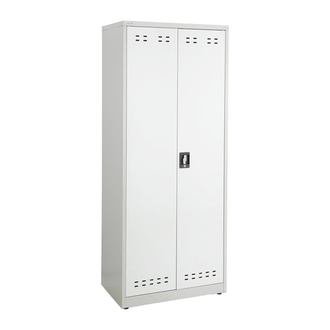 "Storage Cabinet, 72""H, Steel, Gray"