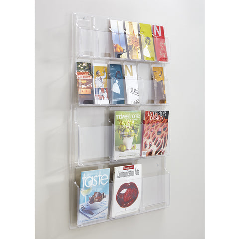 Reveal™ Literature Organizer Display, 6 Magazine and 12 Pamphlet