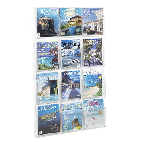 Reveal™ Literature Organizer Display, 12 Magazine