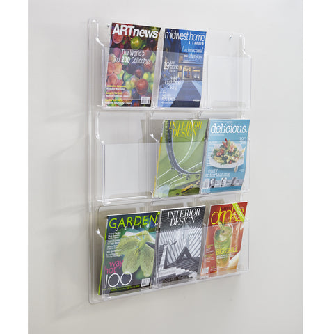 Reveal™ Literature Organizer Display, 9 Magazine