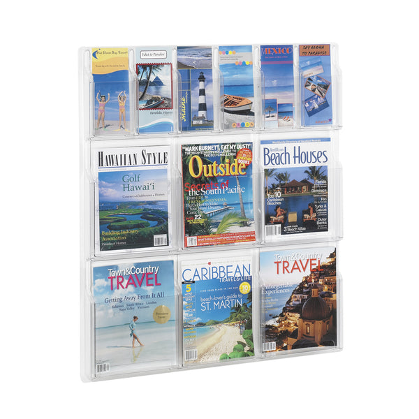 Reveal™ Pamphlet Literature Organizer Display, 6 Magazine and 6