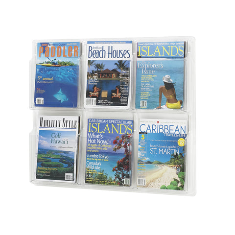 Reveal™ Literature Organizer Display, 6 Magazine