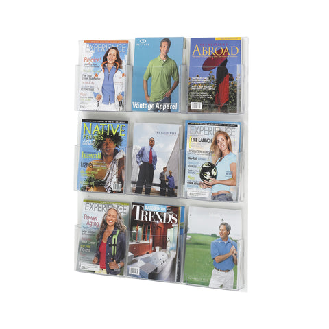 Clear2c™ Magazine Display, 9 Pocket