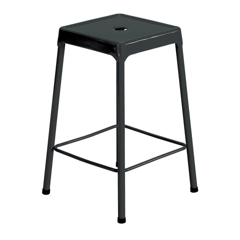 "Safco® Steel Stool, Counter-Height, 25""H, Black"