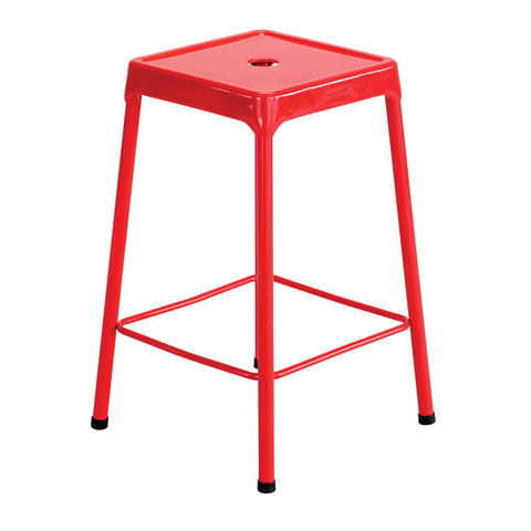 "Safco® Steel Stool, Counter-Height, 25""H, Red"