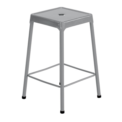 "Safco® Steel Stool, Counter-Height, 25""H, Silver"
