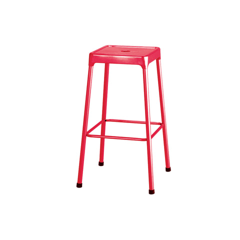 "Safco® Steel Stool, Bar-Height, 29""H, Red"